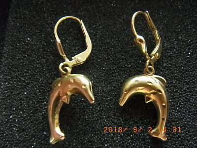 Motiviert Ohrringe Echt Gold 333*** Kinder Ohrringe Ohrhänger Delfin Delphin