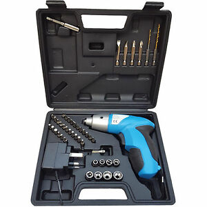 44-Pc-Rechargeable-Cordless-4-8v-Electric-Screwdriver-Tool-Bit-Kit-Charger-UK