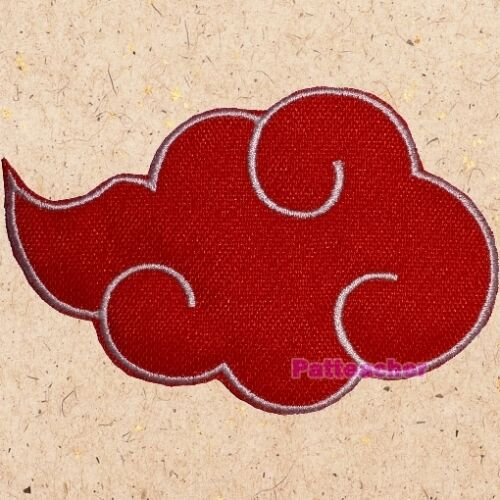 The Akatsuki Logo Patch Naruto Ninja Clan Suit Uzumaki Itachi Uchiha Embroidered