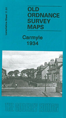 OLD ORDNANCE SURVEY MAP CARMYLE 1934 GLASGOW CLYDE IRON WORKS KENMUIRHILL