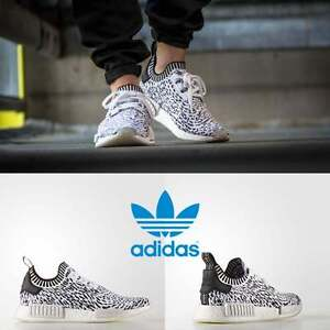 Adidas-Unisex-Original-NMD-R2-Runner-White-White-Black-BZ0219-Size-4-11-Limited