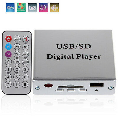 Vehicle Car FM Receiver MP3 USB SD MMC Audio Player Remote 3-Electronic Keypad
