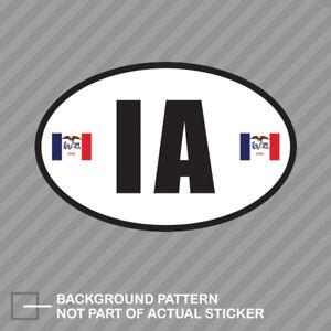 Massachusetts State Flag Oval Sticker Decal Vinyl MA