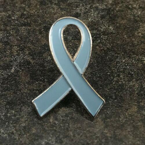 BLUE RIBBON CHARITY AWARENESS ENAMEL PIN BADGEALZHEIMER/'S DEMENTIA CANCER