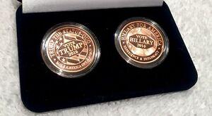 TRUMP vs HILLARY - 2016 HISTORIC ELECTION SET - Two Coins .999 Copper BEAUTIFUL!