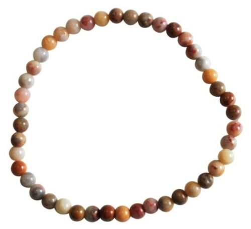 4 mm Bracelet Agate Crazy lace Perles Rondes