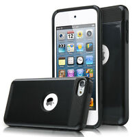 Black Hybrid Shockproof Hard&Soft Rugged Cover Case For iPod Touch 6th 5th Gen