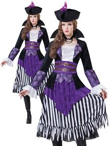 Adults Deluxe Pirate Captain Fancy Dress Up Party Halloween Costume Outfit New
