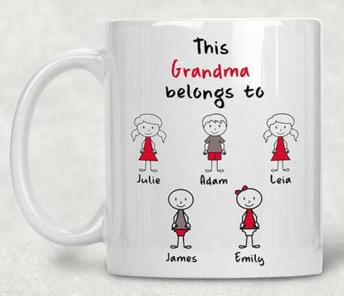 Personalized Grandma Mug Grandma Coffee Mug Personalized Grandma Gifts