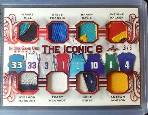 2020 Leaf In the Game Used Iconic 8 Patch Hill Francis Marbury McGrady Bibby