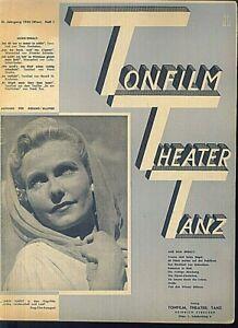 TONFILM-THEATER-TANZ-1943-Heft-1-Gesang-Klavier
