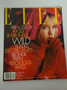 ELLE Fashion Magazine 1985 october PRINCESS DI & MOLLY MINNELL, WILD SUEDES NML