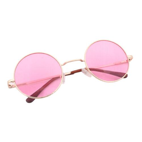 Vintage Stil Punk Sonnenbrille Runde Gläser Nickelbrille Nerd Hippie Verspiegelt