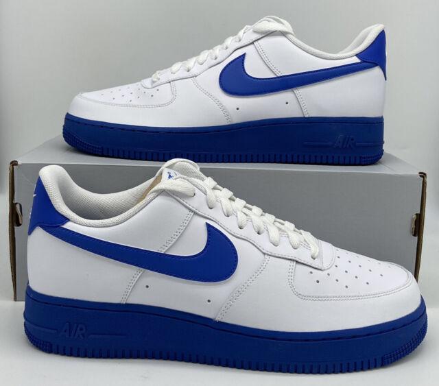 Nike Air Force 1 '07 Retro White Royal Midsole AF1 CK7663-103 Mens Size