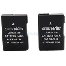 2x EN-EL14 EN-EL14a Battery for Nikon D5500 D5300 D5200 D3300 D3200 D3100
