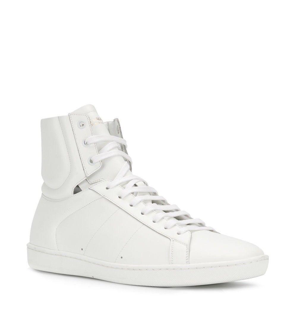 Saint Laurent Sneakers Sl / 01h Misura Woman in pelle Bianca Misura 01h 9.5 Nuovo con 9b2efc