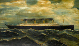 Dream-art-oil-painting-seascape-big-ship-Titanic-with-ocean-waves-canvas-24-034-x36-034