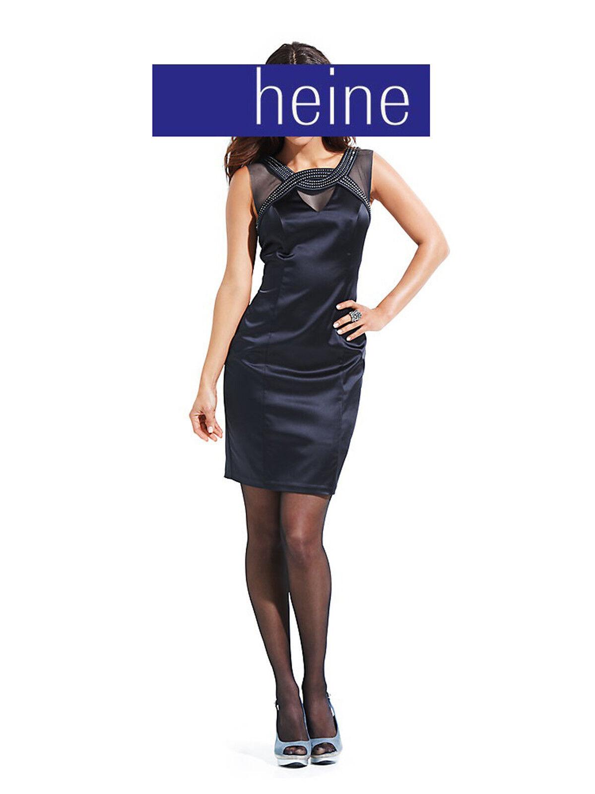 Kleid mit  Strasssteinen  nachtblau