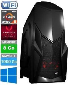 PC Gamer - Ryzen 5 2400G VEGA - Quad Core 4 x 3.9 GHz - Ram 8 Go - 1To - Wifi - France - État : Neuf: Objet neuf et intact, n'ayant jamais servi, non ouvert, vendu dans son emballage d'origine (lorsqu'il y en a un). L'emballage doit tre le mme que celui de l'objet vendu en magasin, sauf si l'objet a été emballé par le fabricant d - France
