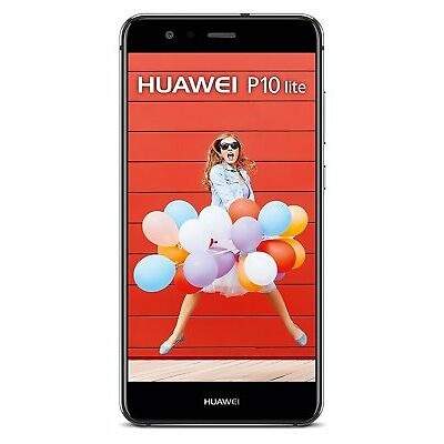 HUAWEI P10 LITE 32GB BLACK NERO DISPLAY 5.2 RAM 4 GB GAR ITALIA 24 MESI BRAND
