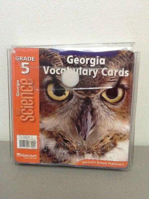 Harcourt HSP Science Georgia Vocabulary Cards Grade 5 85cards