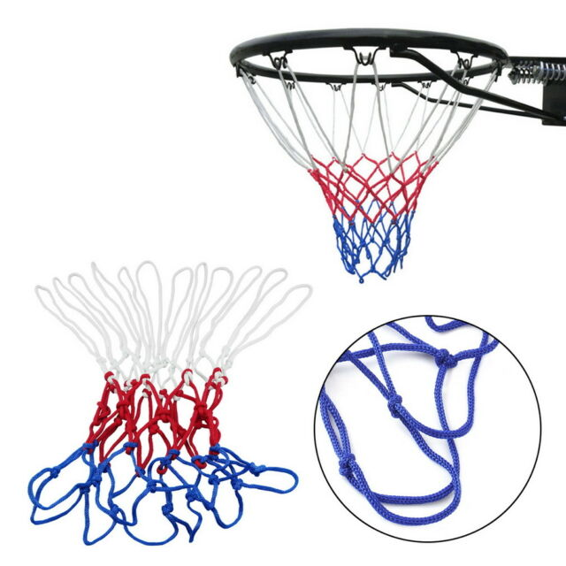 Red White Blue Basketball Net Nylon Hoop Goal Rim Mesh Net Sports  uQ