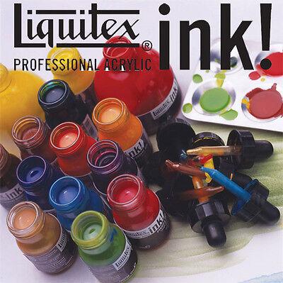 Liquitex Liquid Acrylic Ink Colour 30ml. Single Colours. Artists Drawing Inks.