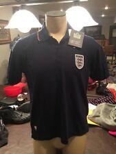 Nwt Mens ADMIRAL for English Navy Blue Knit Polo /Soccer/Sm/England Shield Logo