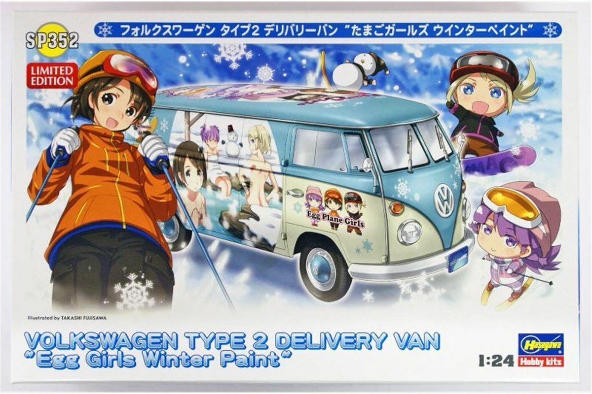 ofrecemos varias marcas famosas Volkswagen Type 2 Delivery Van egg girls girls girls winter paint - Kit à construire  1 24  moda clasica