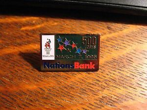 NationsBank-Olympic-Pin-Vintage-1995-Atlanta-Georgia-USA-Summer-Olympics-Games