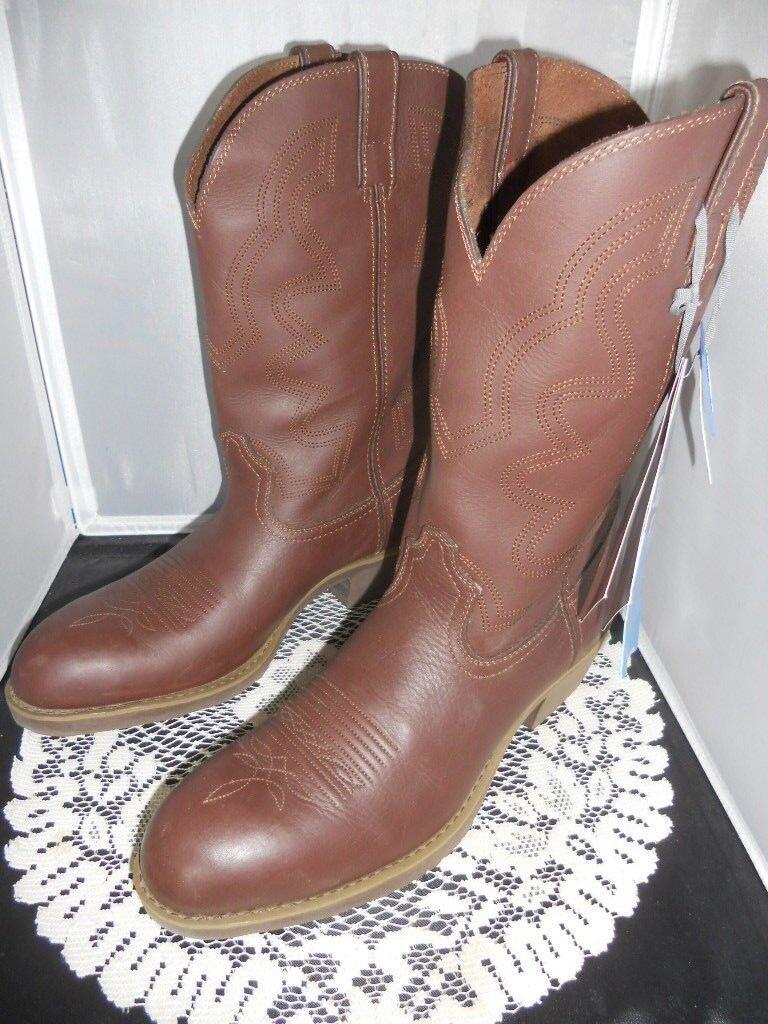 Durango Mens Cowboy Western Leather Boots FR104 Size 7.5 D 8.5 D 12 D NEW NIB