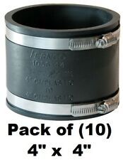 "Fernco P1056-44SR 4/"" CI//PL x 4/"" CI//PL Shielded S//Steel Shear Ring Coupling"