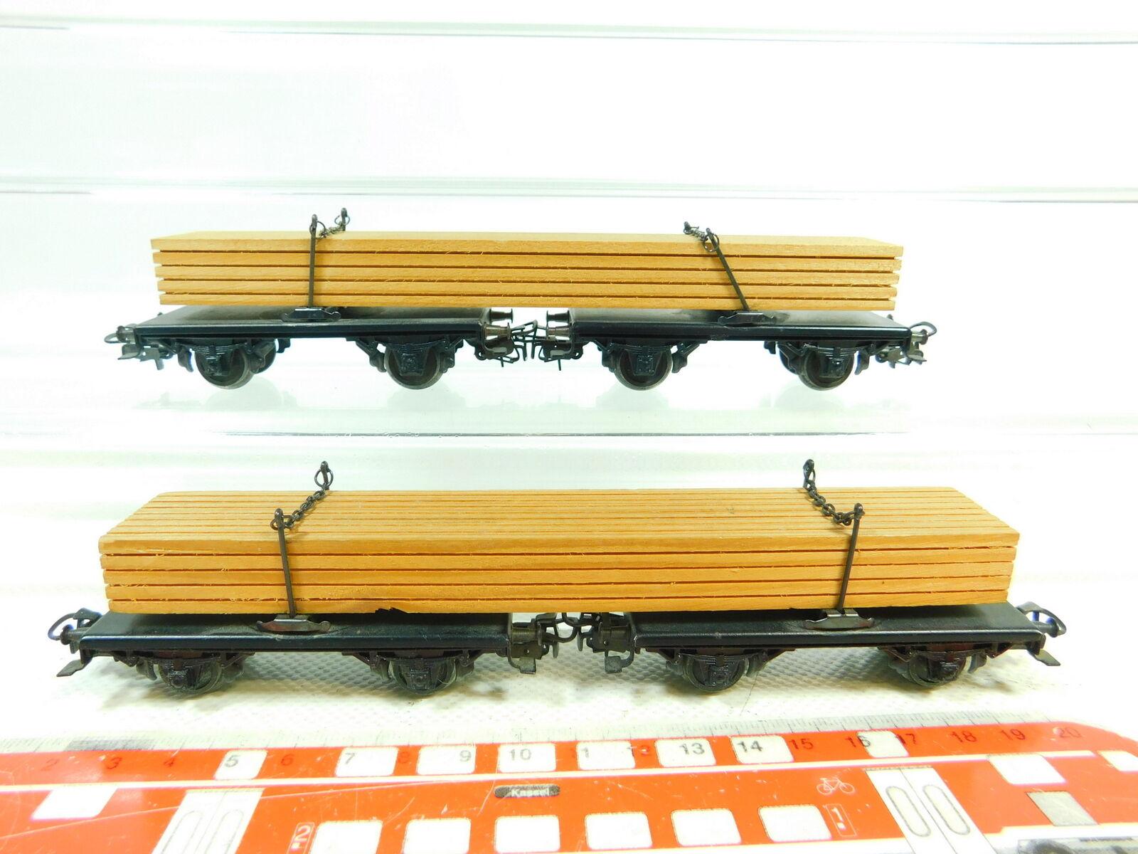 Bs839-0, 5  2x   h0/ac 4512 Lang carrello in legno/carri merci assi mozzicone