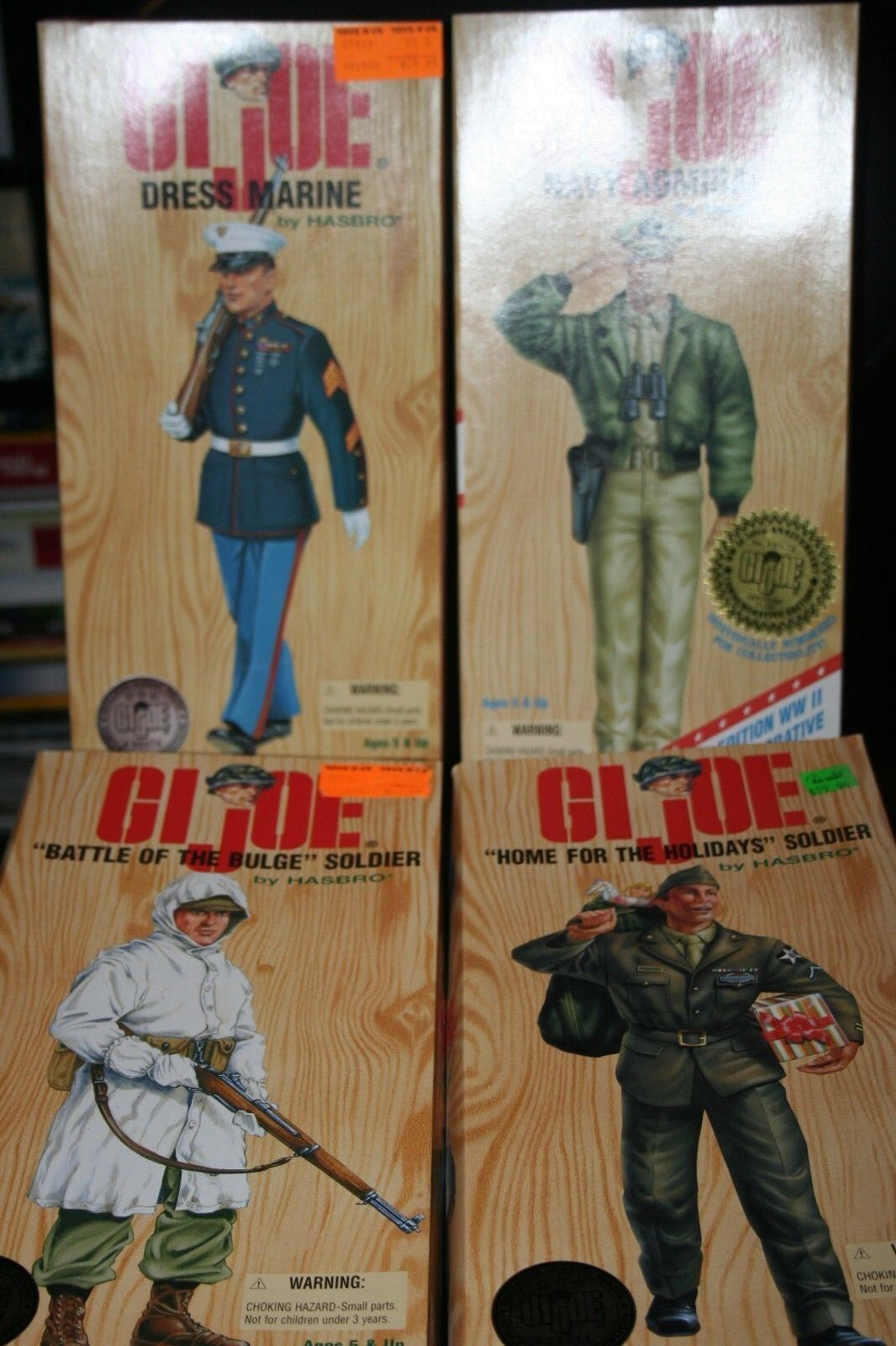 Set of 4 1996 GI JOE New Mililtary Action Action Action Figures-Never Removed From Box 23ec99
