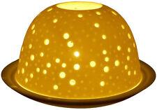 Light-Glow Stars Night Sky Tealight Candle Holder Tea Light Dome Ceramic Boxed