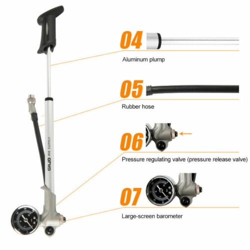 High Pressure MTB Bike Suspension Pump 300psi Rear Suspension/&Fork  Suspension