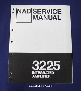 Details about Original NAD 3225 Integrated Amplifier Service Manual