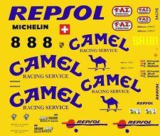 #8 Camel Porsche 962 C 1/43rd Scale Slot Car Decals