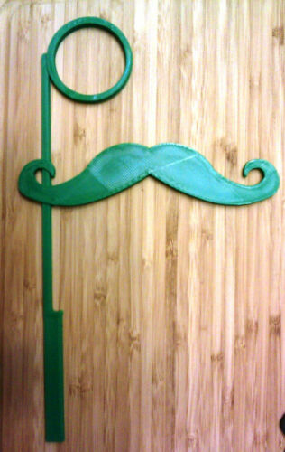 3D Printed Plastic Mustache and Monocle on a Stick Choice of Sizes