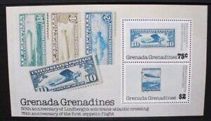 Grenade-Grenadines-1978-ZEPPELIN-Lindbergh-Souvenir-Sheet-neuf-sans-charniere-MBS-271