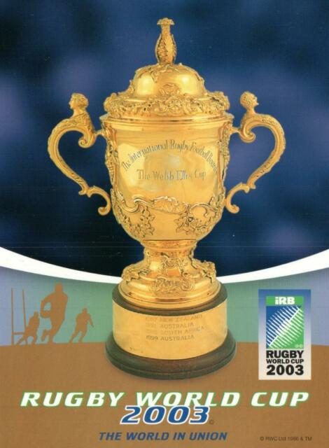 2003 RUGBY WORLD CUP POSTCARD - Webb Ellis Cup Postcard - NEW
