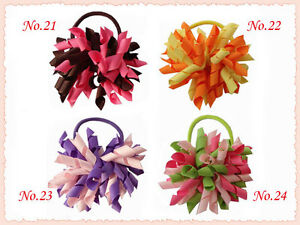 50 BLESSING Good Girl Boutique 3 Inch Corker Hair Bow Pony Elastic 72 No.