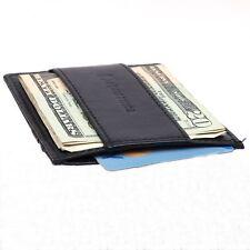 Alpine Swiss Men's RFID Blocking Minimalist Wallet Leather Cash Strap Money Clip