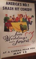 40x60 Huge Subway Movie Posterfour Weddings And A Funeral 1994 Original