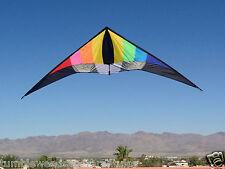 "Stunt Kite Rainbow Dual Line Huge 102"" x 28"" + Two Lines + Carry Bag"
