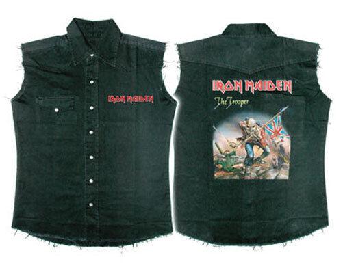 Ufficiale Iron Maiden-TROOPER-Senza Maiden-TROOPER-Senza Maiden-TROOPER-Senza Maniche Camicia di lavoro 582c18