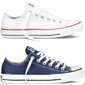 Converse-Chuck-Taylor-All-Star-Lo-Tops-Unisex-Canvas-Trainers-Navy-White