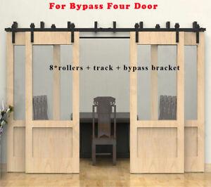 Image Is Loading 6 20ft Byp Rustic Sliding Wood Barn Door
