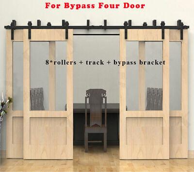 6-20ft Bypass Rustic Sliding Wood Barn Door Hardware ...