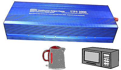 2000W UPS POWER INVERTER DC 12V TO AC 230V 220V 240 DISPLAY
